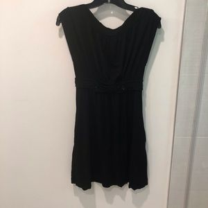 Knit BCBG short dress with button detail